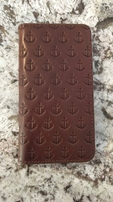 Fossil iPhone 6 wallet case. Brown leather