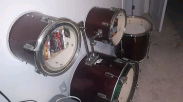 Book shelf drum kit!
