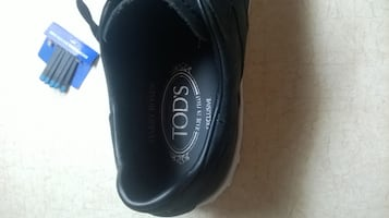 Tod's Black Leather Trainers Sneakers Size 9 Brand New