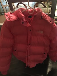 red zip-up bubble jacket Harrison Township, 48045