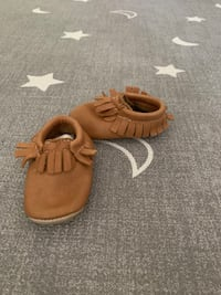 Brown leather moccasins like new  Toronto, M3N