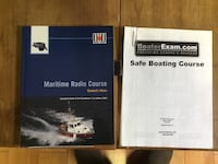Two boating text books for boating license and radio license Cambridge, N3C 1C1
