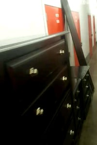 black wooden dresser with mirror 243 mi