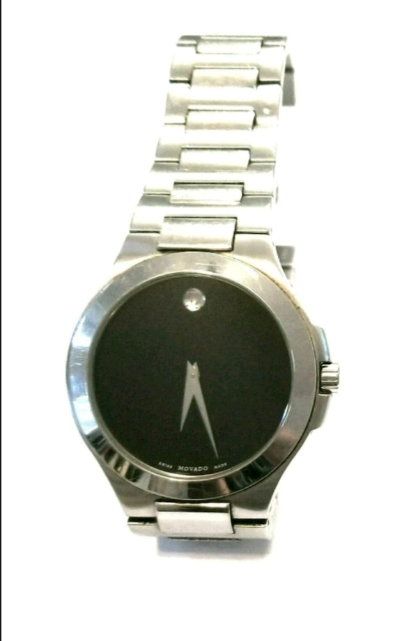 MOVADO Men's Watch Swiss Sapphire Crystal Black Quartz Authentic 5eb88f16-e757-478a-955a-227c5d9d87a1