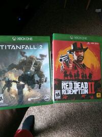 two Xbox One game cases Southfield, 48076