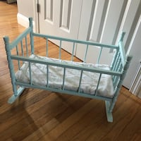 Baby Doll Cradle Spindle Bed Crib Vintage Fits American Girl Doll