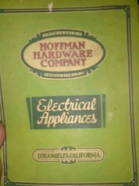 Hoffman Hardware Company electrical appliances book Grass Valley, 95945