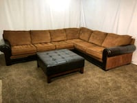 #1541 - Professionally Cleaned Sectional w Ottoman Oregon City, 97045