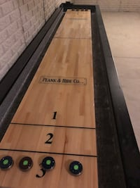 Fulton Shuffleboard Table by Plank and Hide Co. Columbus, 43207