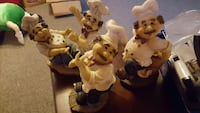 four ceramic chef figurines Redford Charter Township, 48239