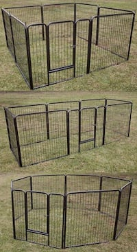 New in box 32 inch tall x 32 inches wide each panel x 8 panels exercise playpen fence safety gate dog cage crate kennel for pet Los Angeles, 90032