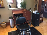 Hair salon furnishings, work station, sink and chair