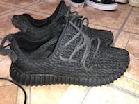 pair of pirate black Adidas Yeezy Boost 350