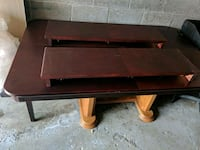 rectangular brown wooden coffee table Toronto, M9M 1X3