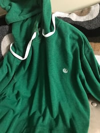 green pull-over hoodie