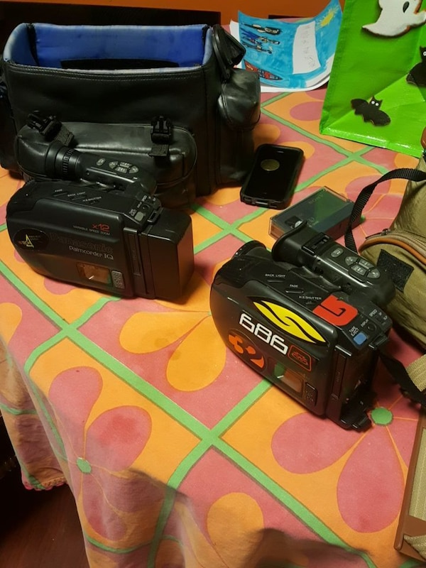 two black video cameras
