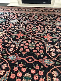 Black and brown floral area rug Newmarket, L3X 0H3