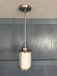 Sleek hanging light fixture, barely used.. just a got a different one lol. South Elgin, 60177