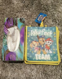 two Disney Frozen Elsa and Anna print textiles Milton