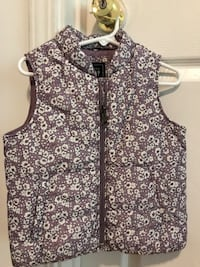 Gap Purple  flower Vest New 4t