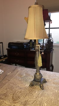 brown and beige table lamp Plantation, 33325