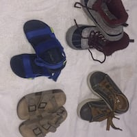 4 pairs of toddlers shoes  Baltimore, 21236