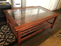 Large coffe table with glads top