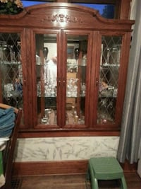 brown wooden framed glass display cabinet Windsor, N9C 2Z9