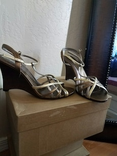 Steve Madden Bronze-Metallic Wedges. Size 9 1/2