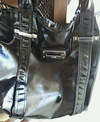 Large black and white  leather shoulder bag Oklahoma City, 73159