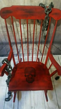 Solid wood rocking skull chair! Airdrie, T4B