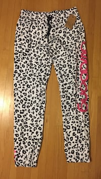 White and black leopard-print sweatpants Thorold, L2V 5A2