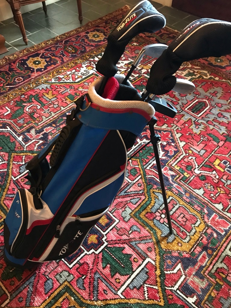Photo Top Flight Junior youth golf clubs set with bag