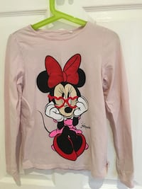 white Minnie Mouse print long-sleeved shirt Laval, H7P 4G3
