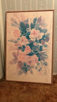 brown framed painting of flowers wall decor Odessa, 79764