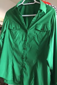 Green long sleeve blouse Sterling
