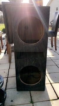 "Black and gray subwoofer enclosure. Fits 10"" subs (Just the speaker box) Greensboro"