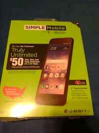 Simple mobile rebel 4 lte cell phone Columbia, 21045