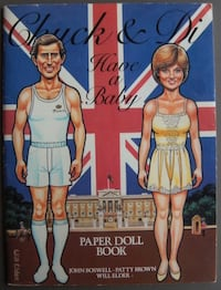 Chuck & Di Have a Baby & First Family uncut Paper Doll Books '80s Chelmsford, 01824