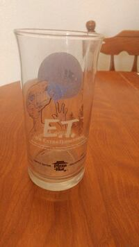 E.T. printed drinking glass