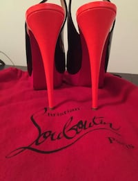 Pair of black Christian Louboutin sling-back stiletto shoes Doral, 33178