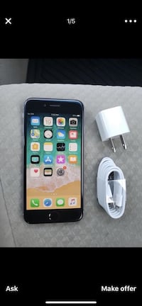 space gray iPhone 6 with charger Gaithersburg, 20878