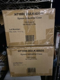 Compostable spoons in bulk 1000 count (2 boxes: $30 each) Hayward, 94544
