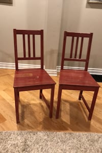 2 red dining chairs Toronto, M4E 3G9