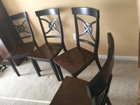 4 wood chairs ,  from smoke and pet free home  20 each  Leesburg, 20176