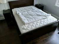 Double bed base, with storage