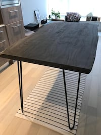 Live Edge Counter Height Kitchen Island Table Vancouver, V5N