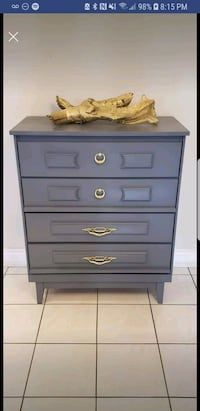 Grey dresser with gold hardware  Markham, L3T 6V6