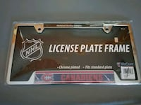 NHL Montreal Canadians license plate frame brand new  Mississauga, L4X 2V4