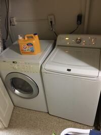 white washer and dryer set Springfield, 22153